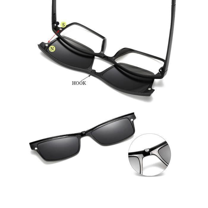 RBUDDY Magnet lunettes de soleil Set Men Driving Mirror lunettes femmes Myopie Effacer optiques Lunettes Lunettes de soleil de