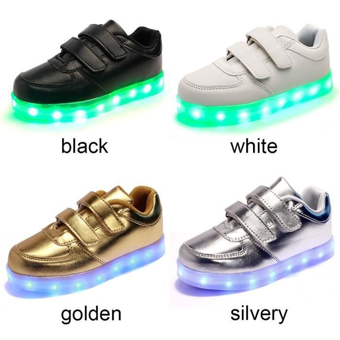 Chaussures New Style Enfants lumineux drôle, enfants flash LED chaussures sport, chaussures Rechargeable Night Ligh