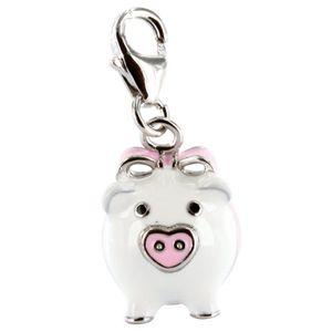 Charm's Charm cochon émail Argent 925/1000 rhodié