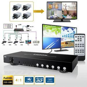 CÂBLE TV - VIDÉO - SON 4x1 4 Port Commutateur Hdmi Image Division Par 1 Q