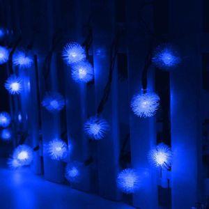 GUIRLANDE D'EXTÉRIEUR 4,8 m 20 LEDs Énergie solaire boules de neige guir