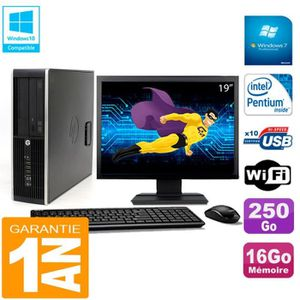 UNITÉ CENTRALE + ÉCRAN PC HP Compaq Pro 6200 SFF Ecran 19