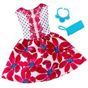 ACCESSOIRE POUPÉE Vêtements pour poupée Barbie : Robe de soirée fleu