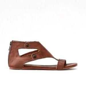 SANDALE - NU-PIEDS Femme Mode Sandales Gladiateur Flats PU en Cuir Sa