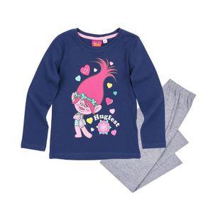 PYJAMA Ensemble pyjama enfant LES TROLLS coton fille