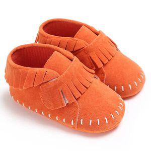 CHAUSSON - PANTOUFLE Orange-Nouveau Chaussures de bébé en bas âge Fond