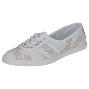 cheap for discount 992e0 acda8 BASKET Fred Perry Aubrey Printed Femme Baskets Beige Blan ...