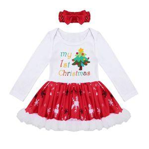 3580d90eb5113 Ensemble de vêtements 0-12 Mois Robe de Noël Bébé Filles - Ensemble de V