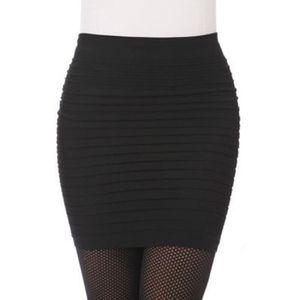JUPE jupe noire femmes elastique taille haute Svelte sa