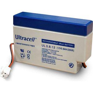 BATTERIE DOMOTIQUE Batterie Plomb Etanche 12V 0.8Ah UL0.8-12 JST AMP