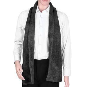 aa9c499ef8e ECHARPE - FOULARD Vbiger unisexe tricot écharpe chaude Wrap châle ép