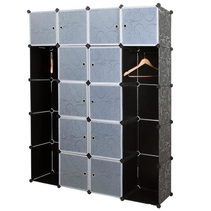 Systeme De Rangement Vetement armoire système etagères rangement vetement chaussure avec 12