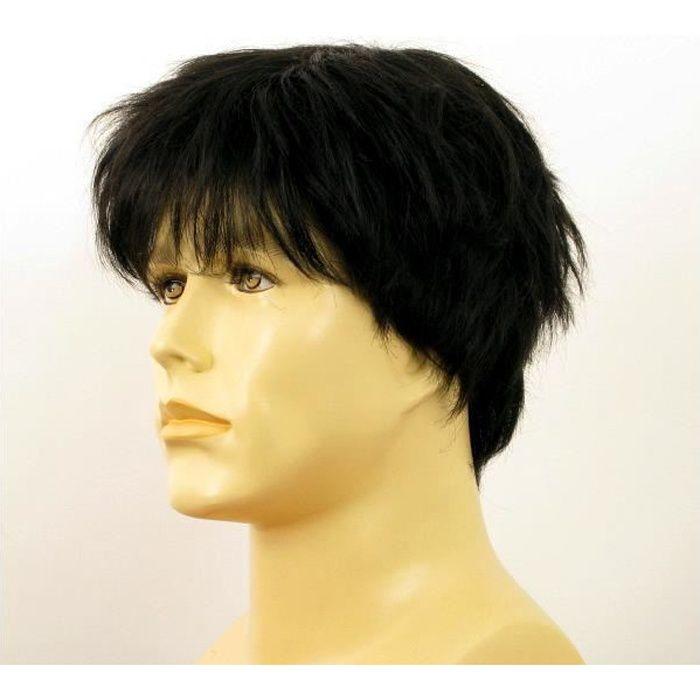 Perruque homme noire cheveux naturels JACQUES