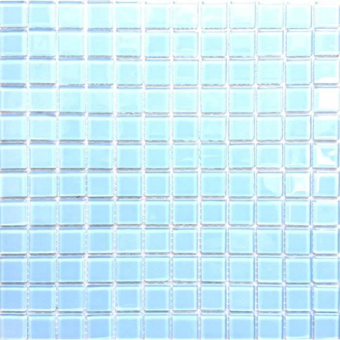 Carrelage Mosaïque En Verre Bleu Clair Pour Les Murs Cm X Cm - Carrelage bleu