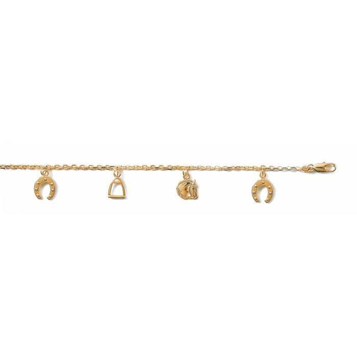 Bracelet femme plaqué or Equitation Bijoux en Vogue