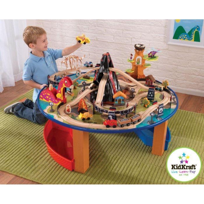 table et circuit de train dinosaure achat vente. Black Bedroom Furniture Sets. Home Design Ideas