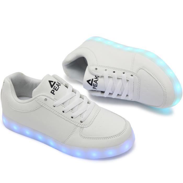 PEAK® Mode enfants 7 CouleurLED Chaussures Lumineux Chaussures de PEAK Sports Baskets