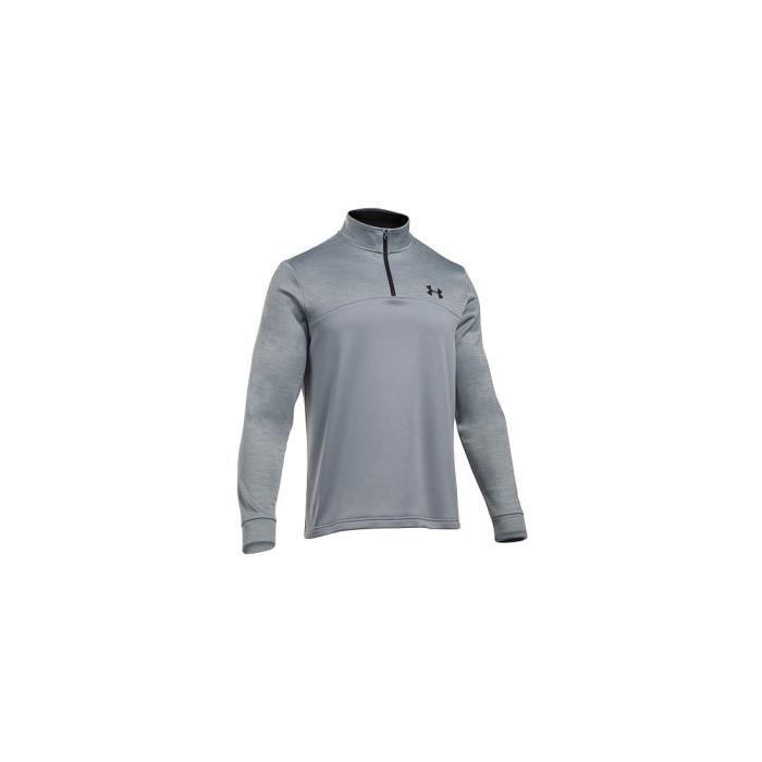 fc2916930d1e1 UA AF Icon 1-4 Zip-STL Sweat-shirt 1286334-035 Homme Gris Gris ...