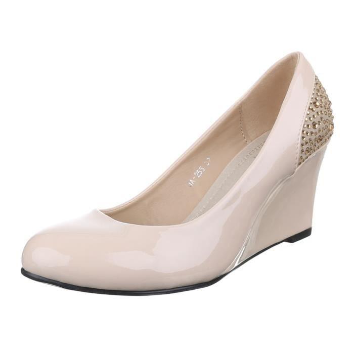 femme chaussure escarpin semelle à talon compensé Wedges