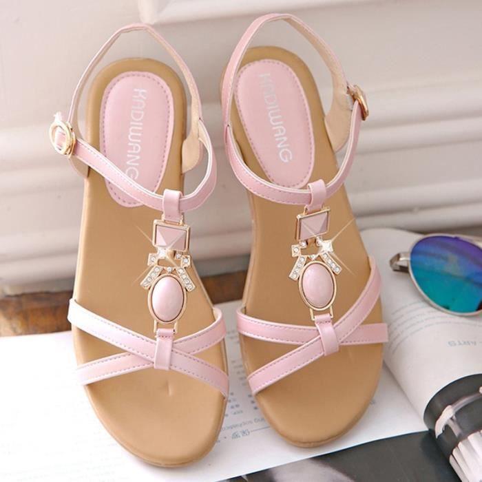 Sandales Femmes été Compensées Mode