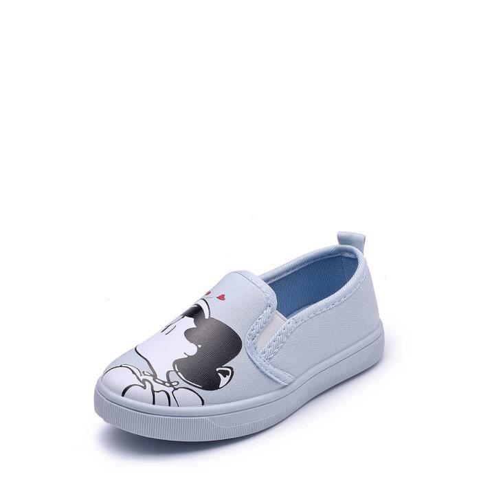 Chaussures de toile de fille Motif Cartoon Slip confortable sur Chaussures 9146372