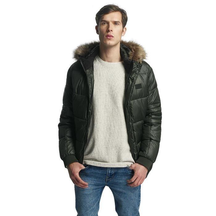 Jack   Jones Homme Manteaux   Vestes    Manteau hiver jcoErnst Vert ... f329c0a9ec93