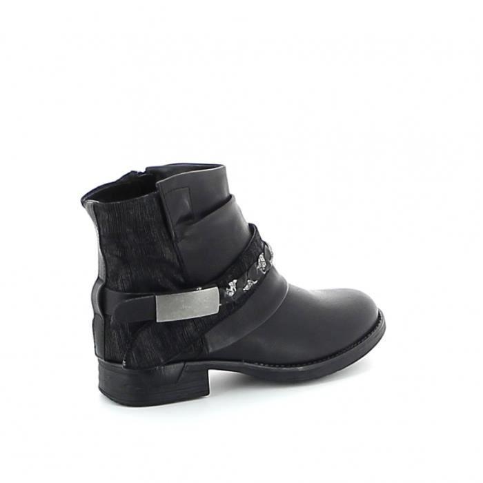 Boots sangle tressée - Gris Fh9R5r857h