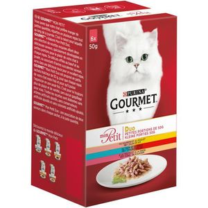 GOURMET Mon petit duo pois - Pour chat - 6x50g