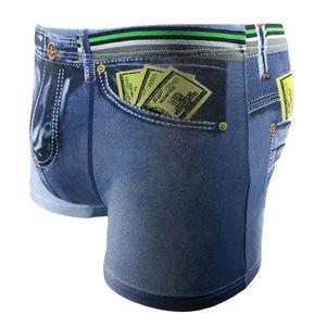 BOXER - SHORTY MAILLOT Shorts En Coton 3D Pour Hommes Denim Jeans