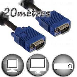 CÂBLE AUDIO VIDÉO Câble VGA HD15 Mâle / Mâle - 20m