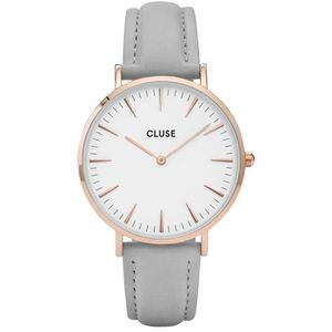 MONTRE cluse Montre Femme La Boheme rose plaqué or blanc-