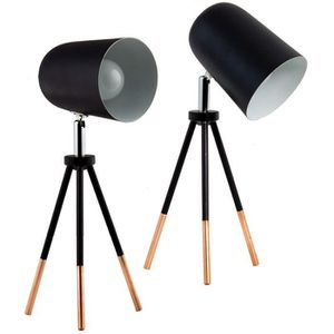 LAMPADAIRE BRUBAKER - Lampe de table/de chevet - Lot de 2 - D