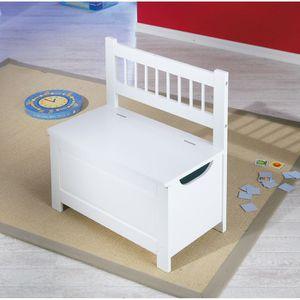 regard détaillé 6f0dd f55e7 Miliboo - Coffre à jouets banc blanc ECOLIER Blanc - Achat ...