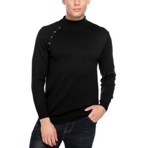 Pull homme col montant a boutons - Achat   Vente pas cher ce07039117c6