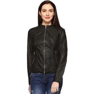 BLOUSON - VESTE Faux Veste en cuir pour femme BWB8I Taille-38