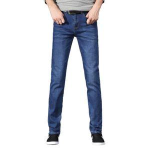 77dc9af5c4c058 Jean Jeunes Pantalon Slim Casual Taille Hommes Droit Grande Mode PrqnSOvFwP