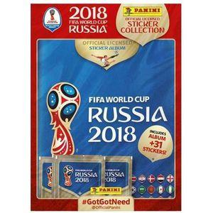 CARTE A COLLECTIONNER PANINI WORLD CUP 2018 Cartes de foot - 1 Album + 3