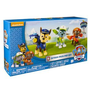 FIGURINE - PERSONNAGE Spin Master Paw Patrol Action Pup 3pk Online Exclu