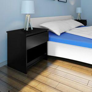 table de chevet design noir achat vente table de chevet design noir pas cher soldes d s. Black Bedroom Furniture Sets. Home Design Ideas