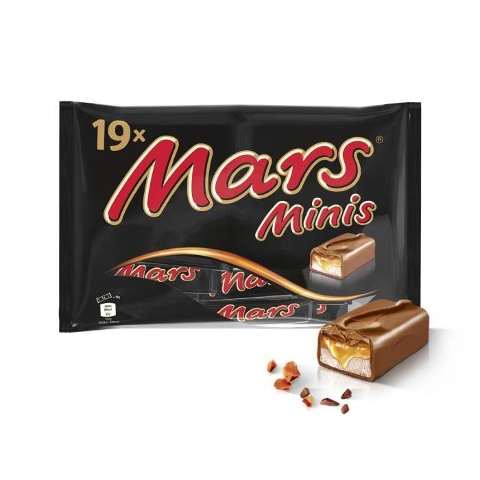 MARS Mini barres de chocolat au lait fourré de confiserie et caramel - 366 g