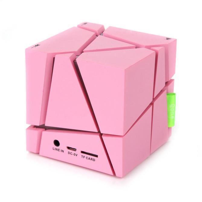 Mini Cube Portable Led Haut-parleur Stéréo Bluetooth Sans Fil Pour Smartphone Tabletpk @speaker159