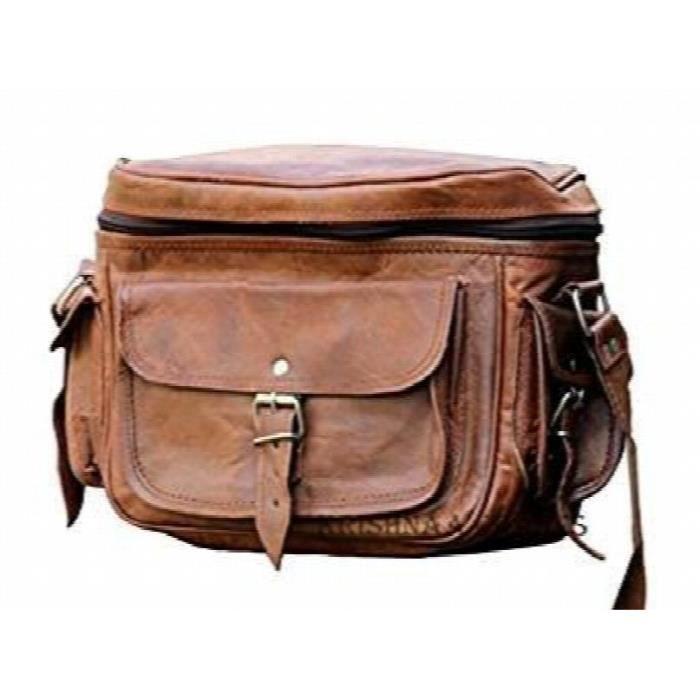 Caméra en cuir à la mode Vintage Bag Femmes - Dslr Camera Bag LCZ2H
