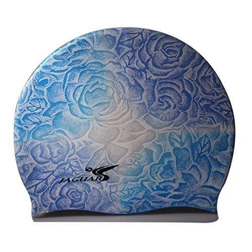 Fleur Silicone Bonnet De Bain Floral Pour Les Femmes De Rose Bleue