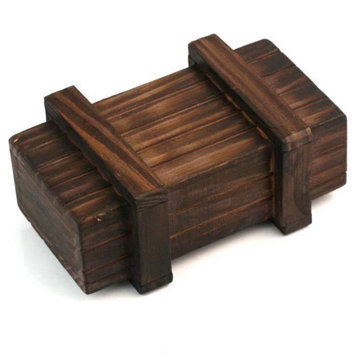 Boite Magique A Secret Tresor Coffret En Bois Wooden Compartiment