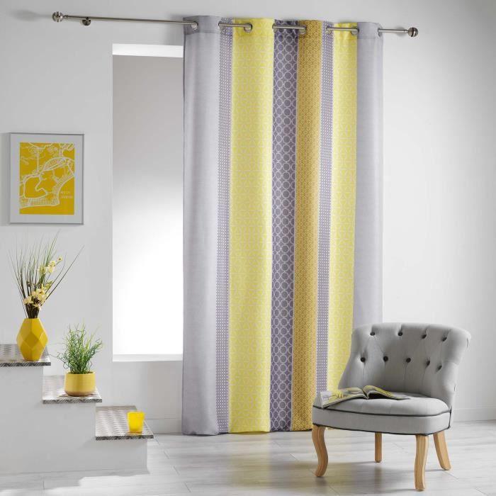 rideaux moutarde achat vente rideaux moutarde pas cher cdiscount. Black Bedroom Furniture Sets. Home Design Ideas
