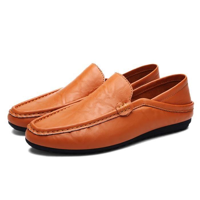 Chaussures De Bateau De Mode Homme Respirant De Mocassins Designer Plat En Cuir Souple Chaussures De Luxe Marque Ventes Chaudes PIHOo