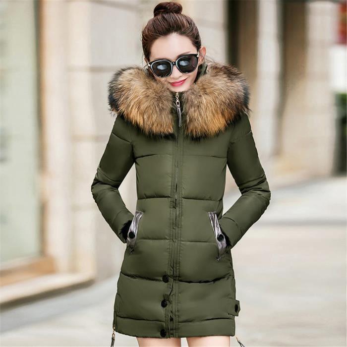 Long Capuche Manteau Hiver Chaud Femme Fourrure Doudoune Jacket Faux Veste Blouson Causal T0RSHWq