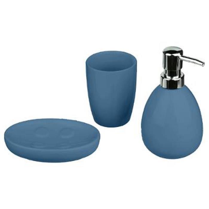 Accessoire salle de bain bleu marine - Achat / Vente pas cher