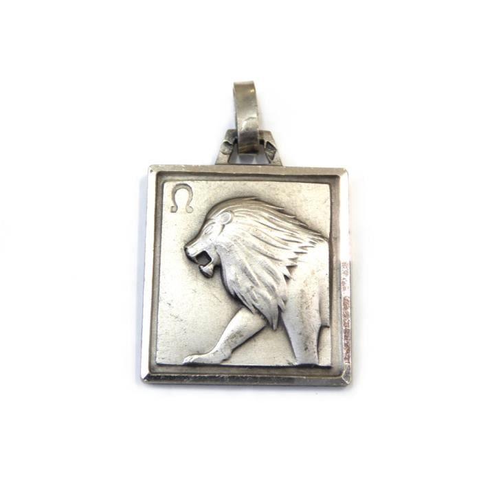 Pendentif zodiaque Lion en argent 925 24mmx19mm - RC005329