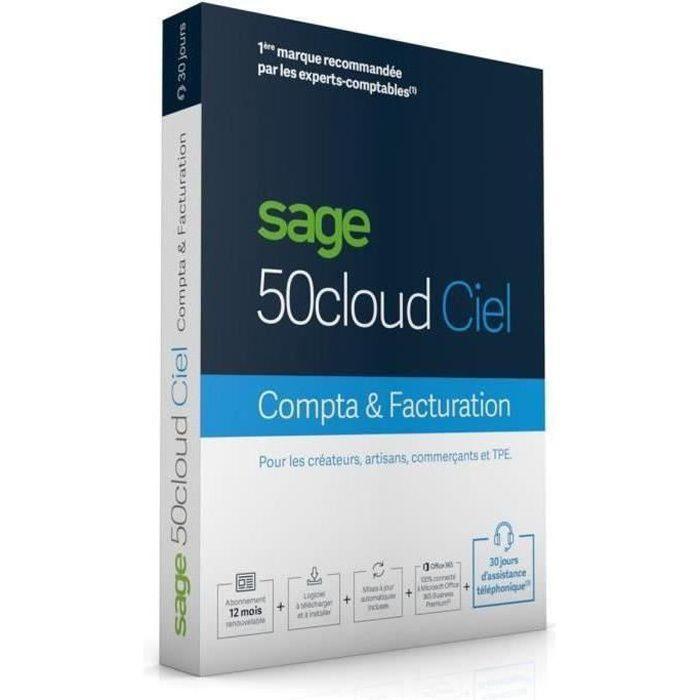 BUREAUTIQUE SAGE 50cloud COMPTA+FACTURATION - 1 an d'assistanc